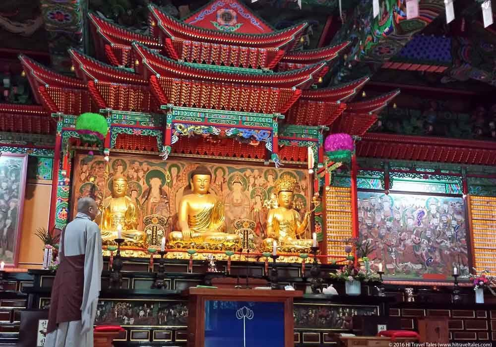 Buddha's birthday prayers at Daegaksa Temple