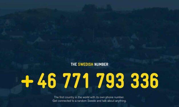 Calling Sweden. Talking to a 'random Swede'