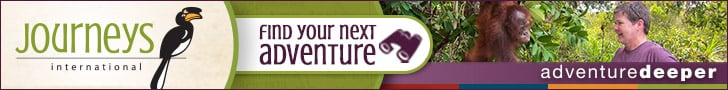 Journeys International Find Your Next Adventure banner ad