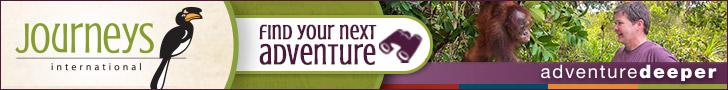 Journeys International Find Your Next Adventure banner ad