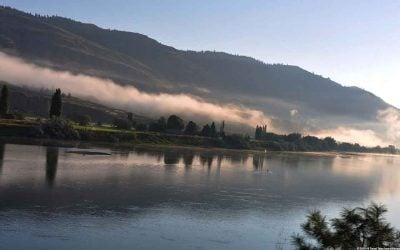 Sunrise on the Thompson River in Kamloops, Canada