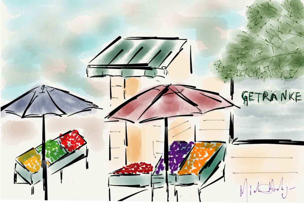 Cafe Anna Blume watercolor
