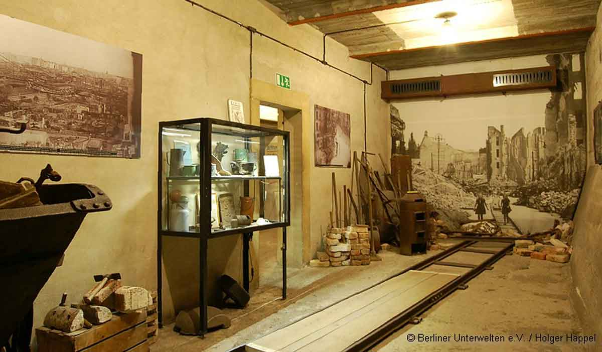 Berlin underground tours exhibits.