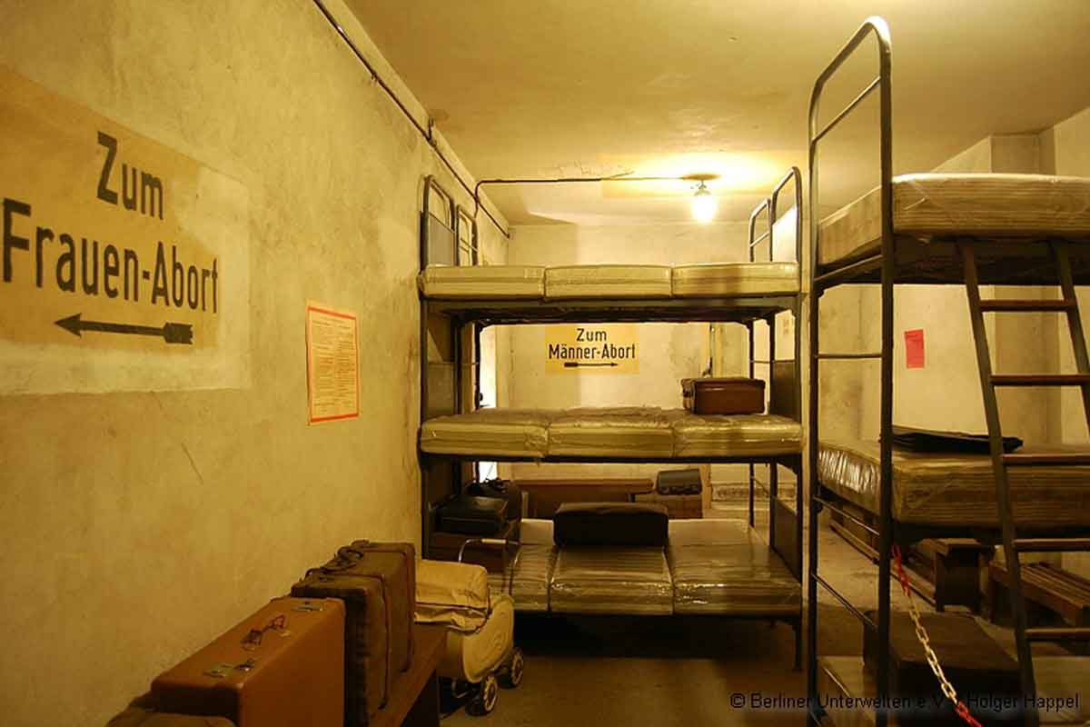 Berlin underground tours with authentic suitcases