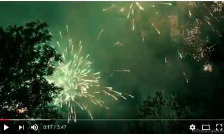 International Donaufest Fireworks In Ulm 2016