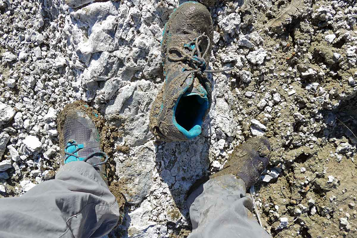 Mammut Comfort Low GTX Surround was sucked right off our testers foot at Mono Lake.