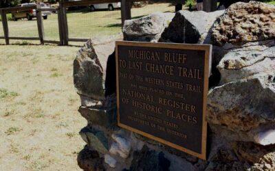 Historic Gold Rush town Michigan Bluff off beaten path