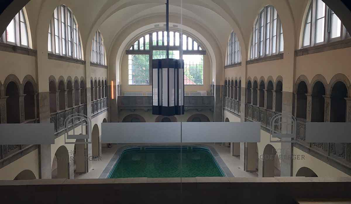 Hotel Oderberger historic pool restored in Prenzlauer Berg.