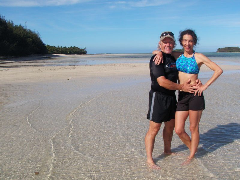 About HI Travel Tales - Michael Hodgson and Therese Iknoian enjoying the sun and beach in Fiji.