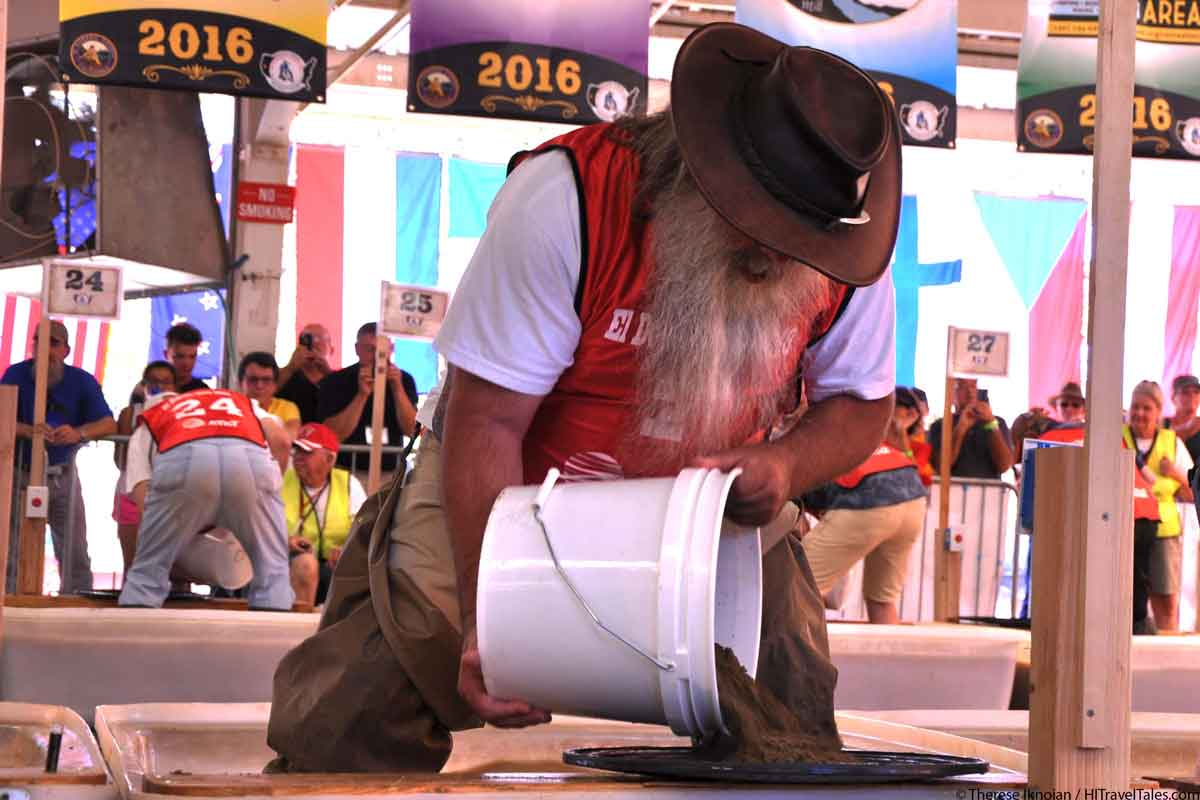 Panning for gold at the world championships of gold panning