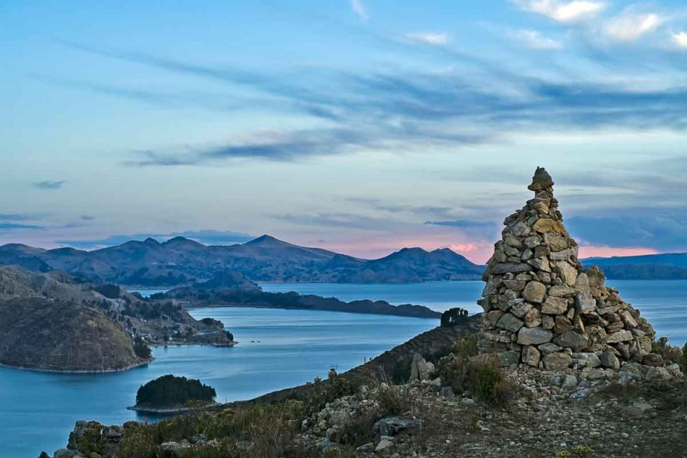 View of Lake Titicaca.