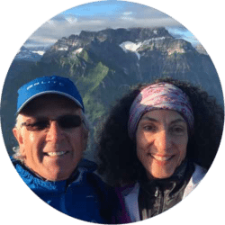 Michael and Therese on Waledinger for sunrise in Austria.
