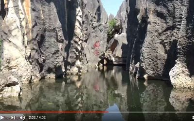 Wandering in the Stone Forest of Yunnan China