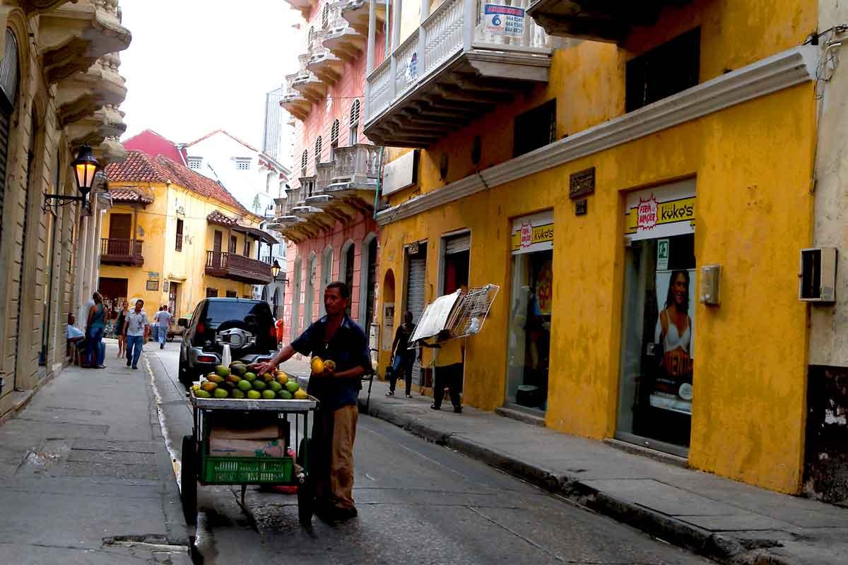 A street scene in Colombia.