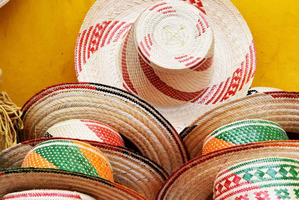Hats in Cartagena Colombia are the perfect keepsake.