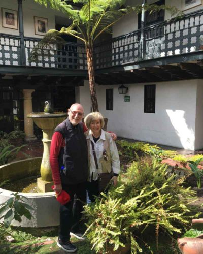 Judith and Clive Kamins in Bogota.