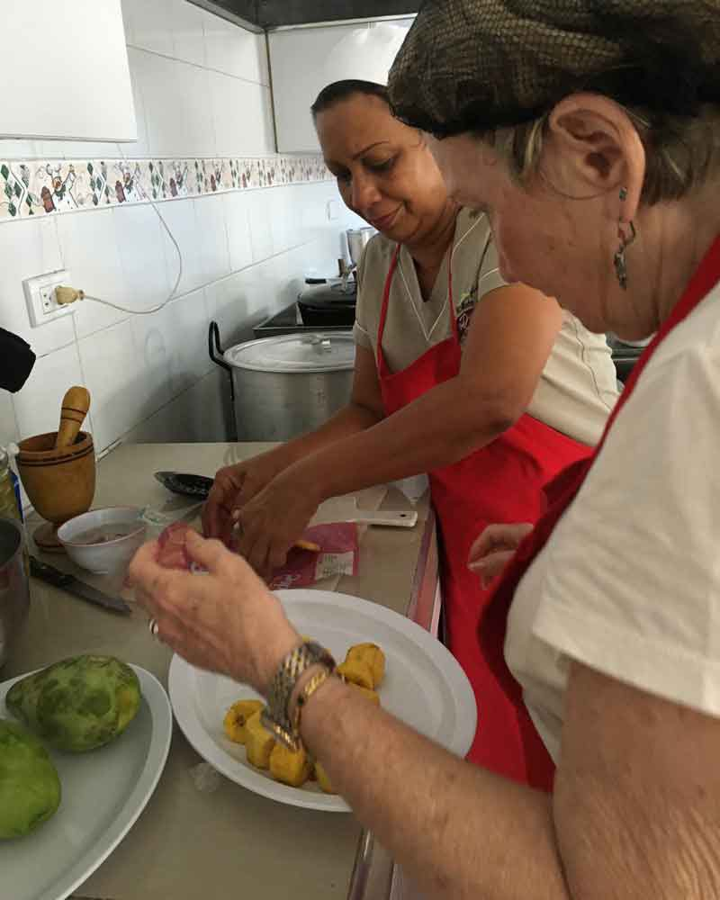 Colombian cooking class for Judith.