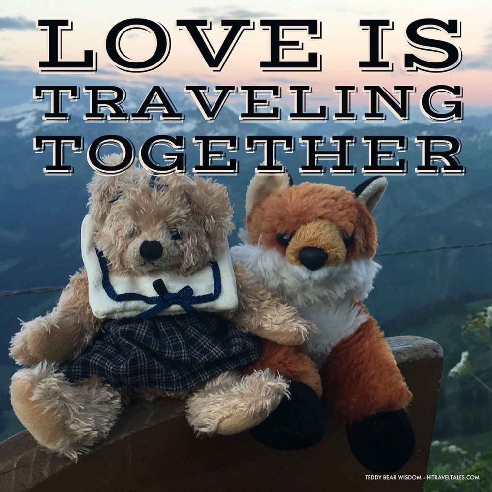 The adventure of traveling together is love.