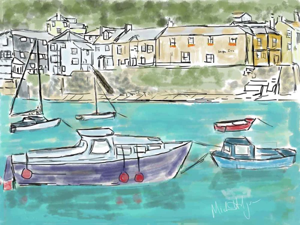 Picturesque mousehole harbor.
