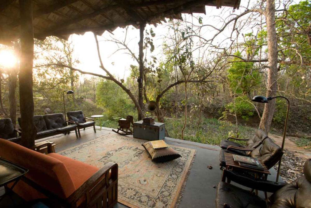 Jamtara wilderness camp lounge area.