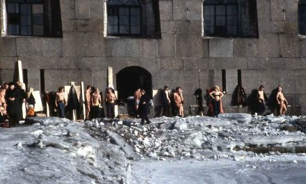 Winter sunbathing at Peter and Paul Fortress, St. Petersburg, 1984