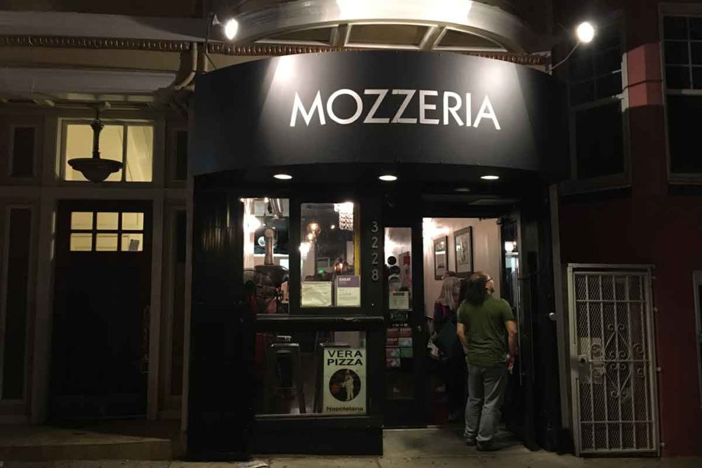 Entrance to Mozzeria is unassuming.