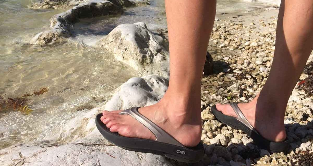 OOFOS sandals review for lightweight travel comfort