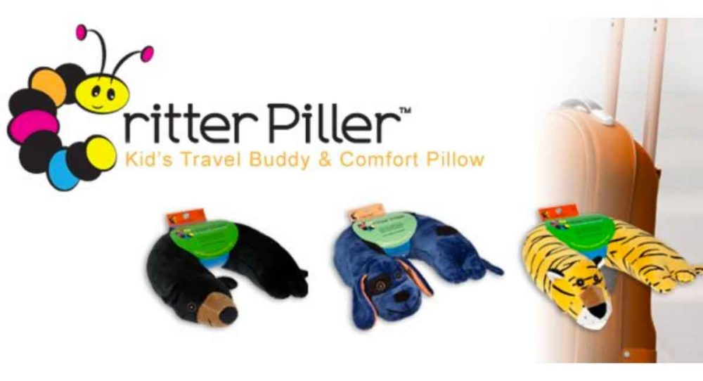 Critter piller pillows for traveling kids.
