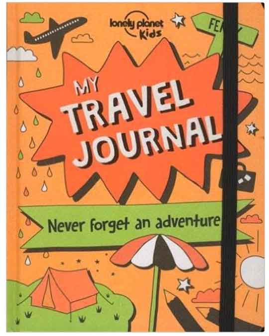 Travel Journal by Lonely Planet is perfect for traveling kids.