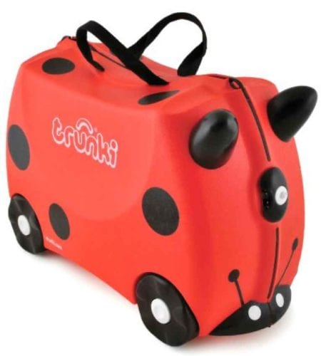 Trunki ride-on suitcase.