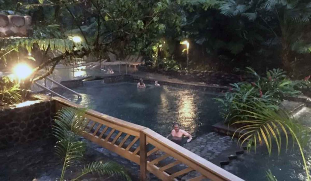 Arenal hot springs in Costa Rica.