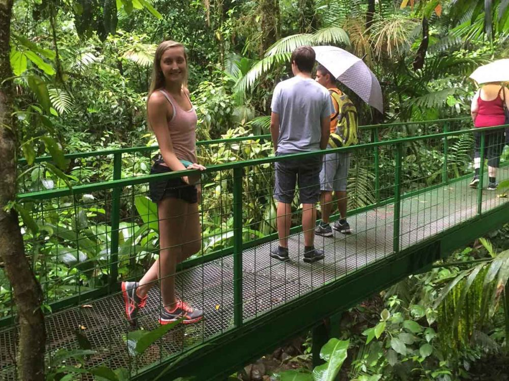 Touring in Mistral Arenal Hanging Bridges in Costa Rica.