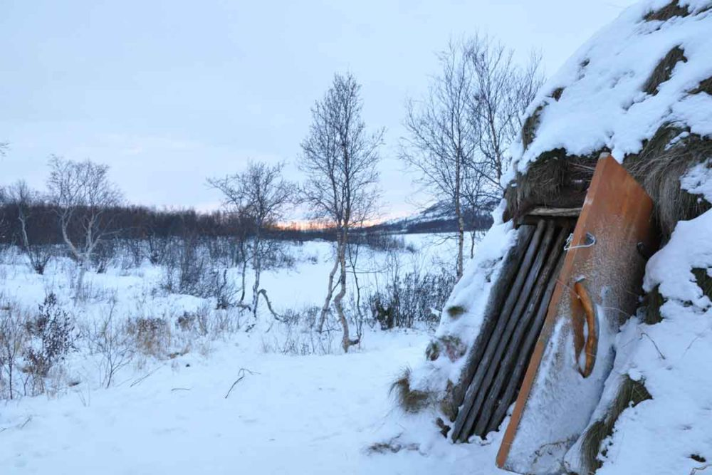 Sami hut in Kirkenes.