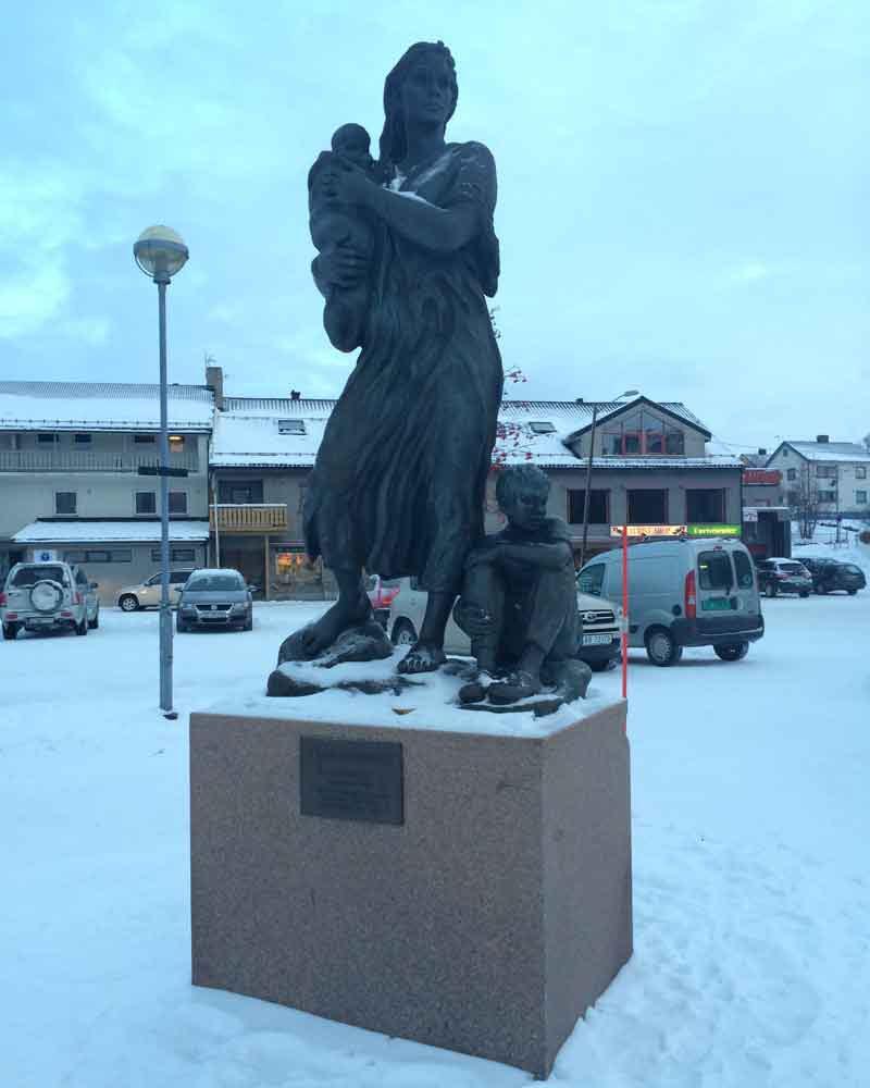 Amazing sculptures in Kirkenes.