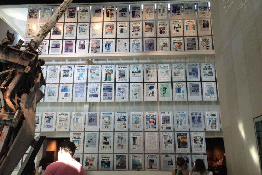 The Newseum 9/11 memorial.