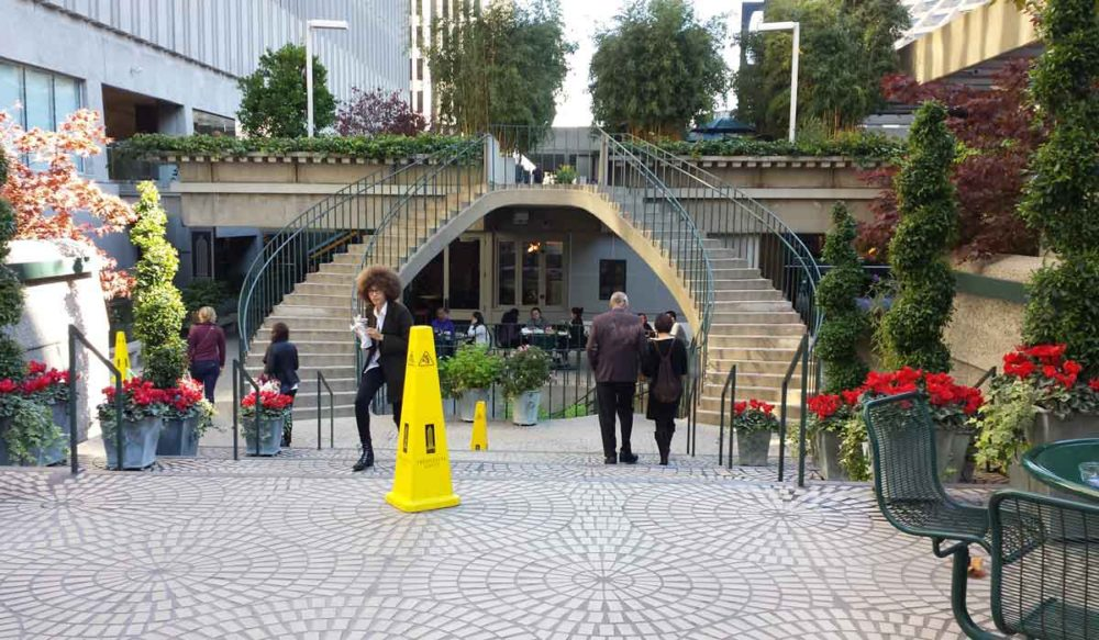 The wonderful open space and secret gardens at the Embarcadero.