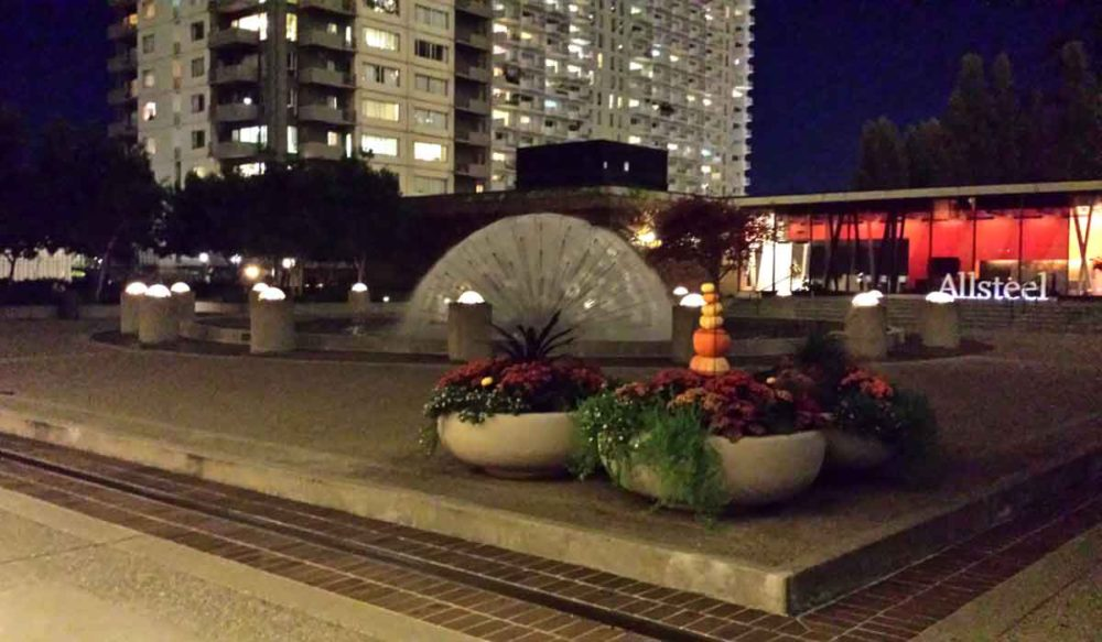 The Maritime Plaza rooftop gardens are a delight.