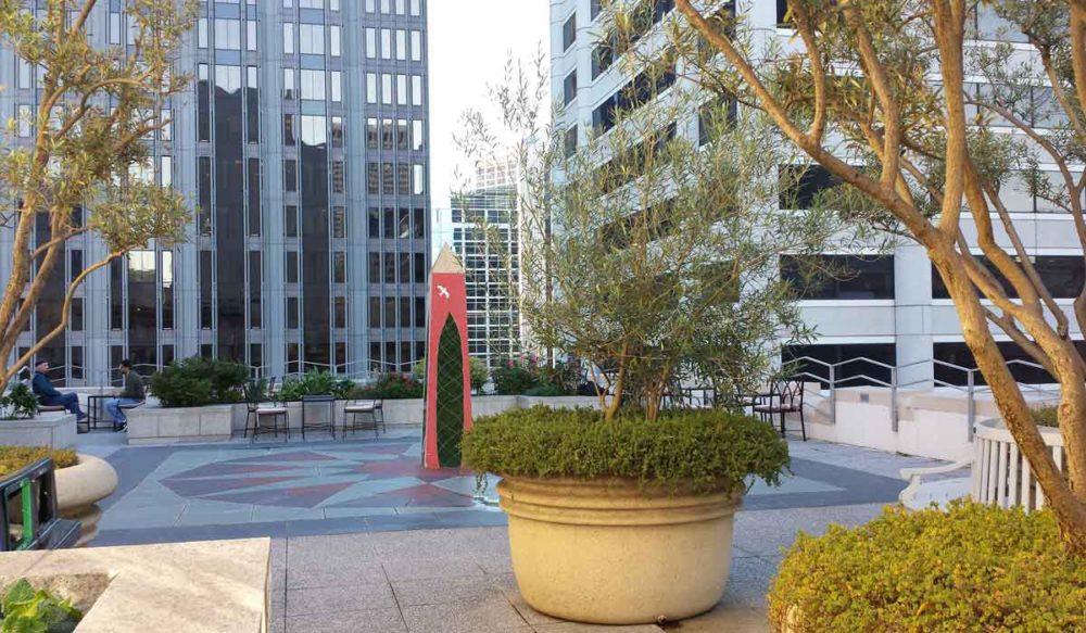 The Sansome secret gardens in San Francisco.