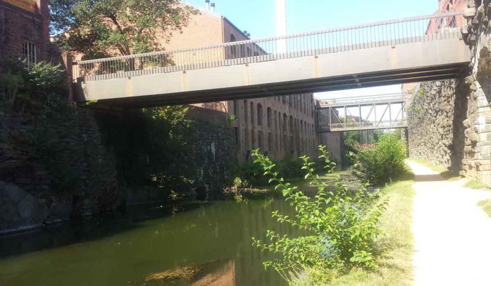 C&O Canal trail near Washington DCs Georgetown community.