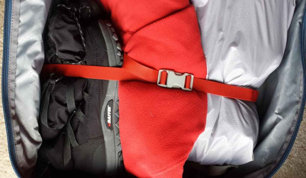 Baffin Escalate folds up compactly into luggage.