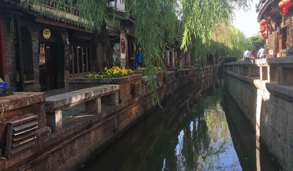 The many canals and bridges is how Old Town Lijiang gets is nickname as the Chinese Venice.