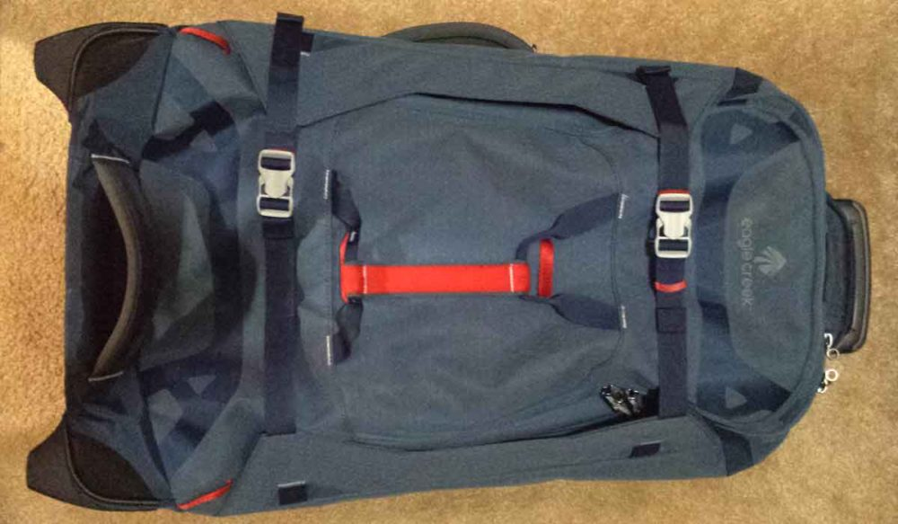 The best travel luggage features compression straps.