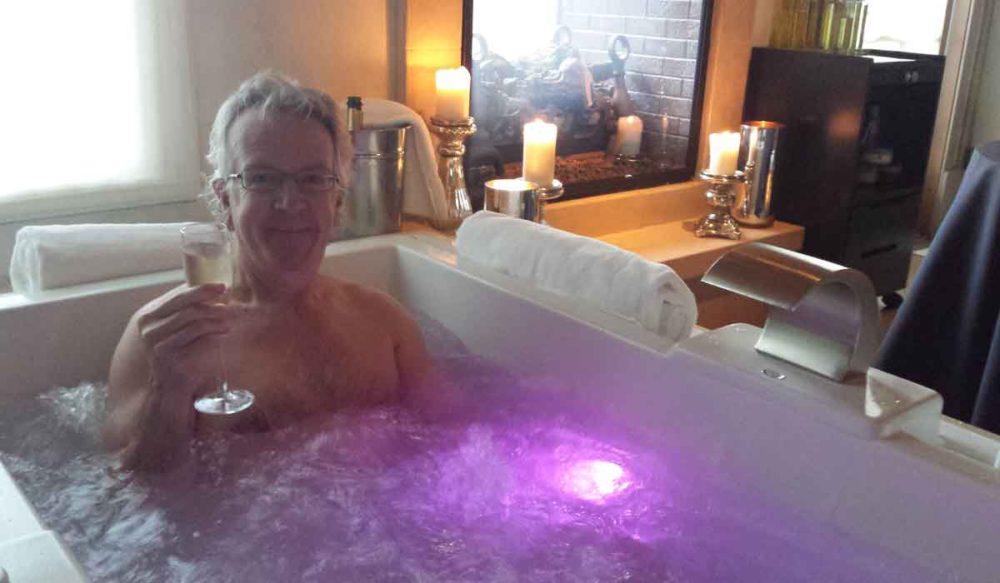 Villagio spa indoor hot baths.