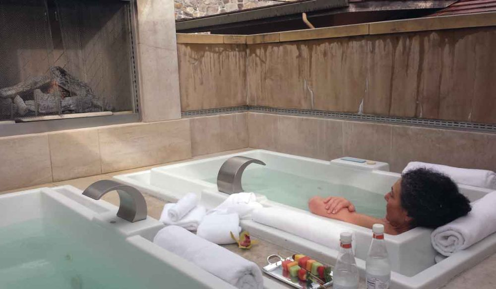 Villagio spa outdoor baths