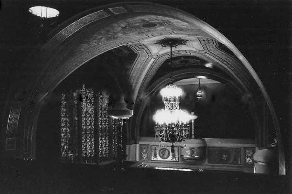 Alhambra Theater balcony from historic photo archives.