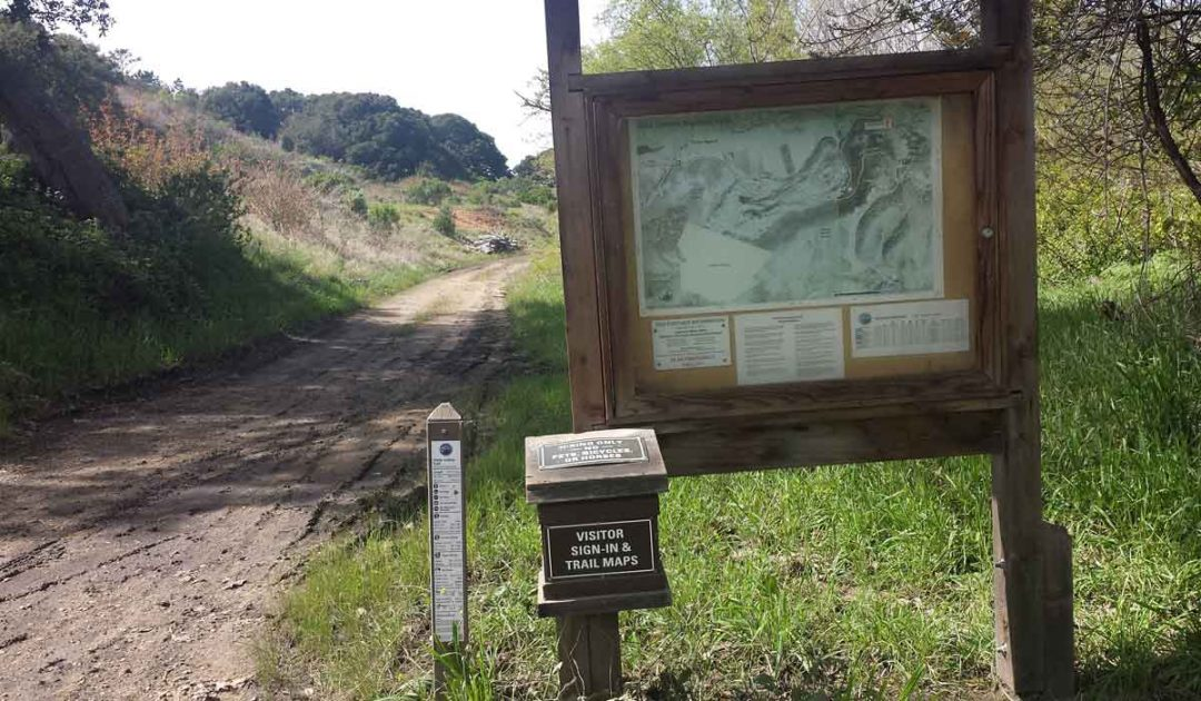 Best hike in Carmel sign with map.