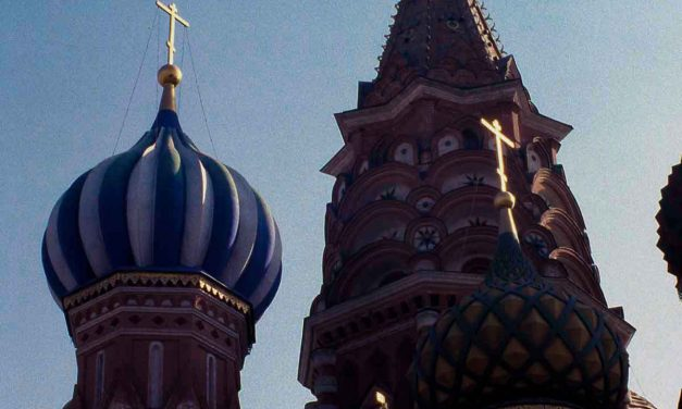 Vintage photo of St. Basil's Cathedral, Moscow 1984