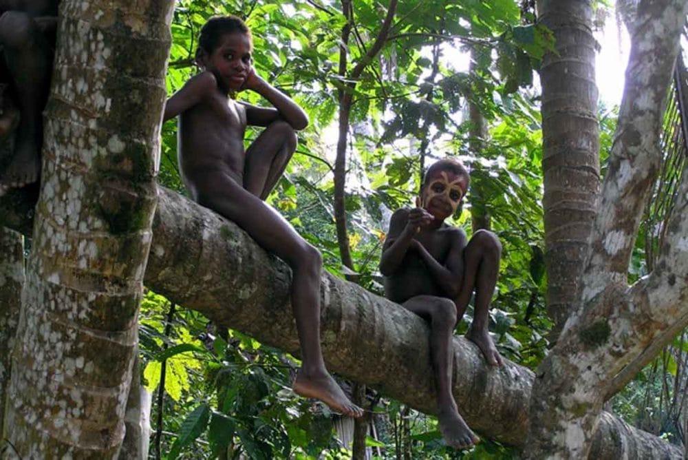 Local boys in Papua New Guinea.