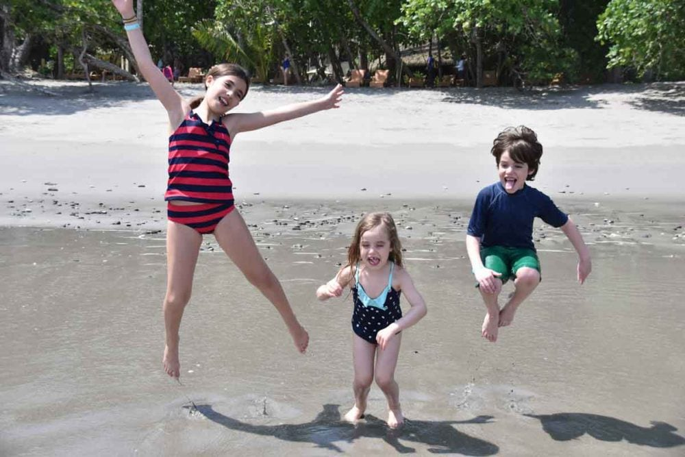 Erin Norris family jumping for joy!