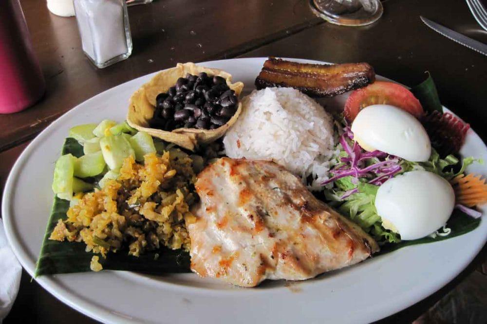 Yummy food in Costa Rica.